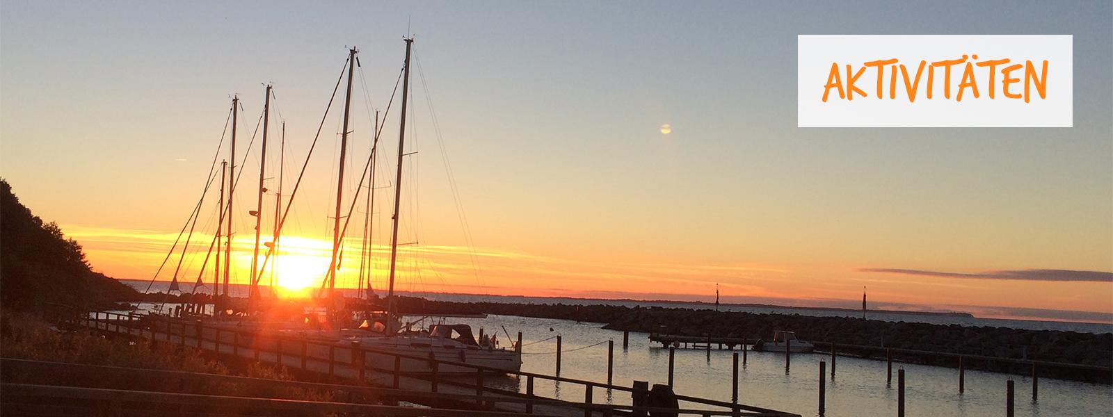 Sonnenuntergang Hafen Lohme